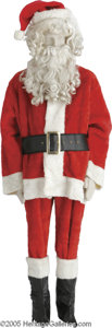 Movie/TV Memorabilia:Costumes, Blackstone Santa Claus Costume. Worn by Harry Blackstone Jr. for a1995 Christmas production at Bally's in Las Vegas. Includ...