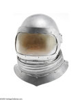 "Movie/TV Memorabilia:Costumes, ""Batman"" Mr. Freeze Prop Helmet. Featured here is a heavy silver ""space helmet"" with a yellow-tinted glass visor and accordi..."