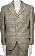 "Hollywood Memorabilia:Costumes, W. C. Fields Suit. Here's a two-piece suit worn by comedian W. C. Fields in the 1938 comedy ""The Big Broadcast of 1938,"" whi..."
