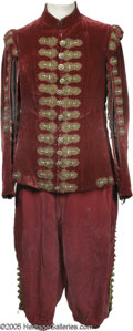 "Hollywood Memorabilia:Costumes, Alec Guinness ""Cromwell"" Costume. This lot features a rather regalcostume worn by Sir Alec Guinness in his role of King Cha..."