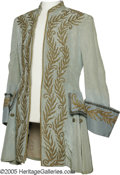"Movie/TV Memorabilia:Costumes, Bob Hope ""Monsieur Beaucaire"" Costume. A light teal coat withrhinestones and gold trim worn by Hope in the 1946 period come..."