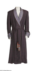"Movie/TV Memorabilia:Costumes, Raul Julia ""Addams Family"" Costume Dressing Gown. Elaborate, full-length Edwardian-style dressing gown worn by the late Raul... (1 )"
