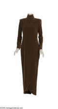 "Movie/TV Memorabilia:Costumes, Diane Keaton ""The Godfather: Part III"" Costume Gown. Brown velvetturtle-necked gown worn by Diane Keaton in the 1990 sequel... (1 )"