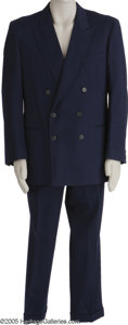 "Movie/TV Memorabilia:Costumes, Al Pacino ""The Godfather: Part III"" Costume Suit. Navy blue, cashmere, double-breasted suit worn by Pacino when he reprised ... (1 )"
