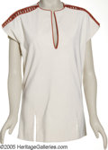 """Movie/TV Memorabilia:Costumes, """"Star Trek"""" Costume Tunic. A white-with-burnt orange-trim costumetunic from an unspecified episode of the original """"Star Tr... (1 )"""