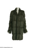 Movie/TV Memorabilia:Costumes, Barbra Streisand Fur Coat. A green squirrel coat owned and worn by singer-actress Barbra Streisand, designed by Henri Bendel... (1 )