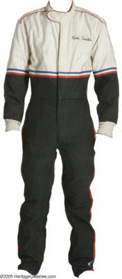 """Tom Cruise """"Days of Thunder"""" Costume Racing Jumpsuit. This size-12 red, white, and blue racing jumpsuit was wo..."""