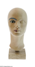 "Movie/TV Memorabilia:Props, ""Cleopatra"" Make-Up Head. Used to design Elizabeth Taylor's make-up for the movie. In very good condition with only a few sc..."