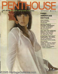 Movie/TV Memorabilia:Ephemera, First American Edition of Penthouse Magazine (1969). Awell-established and successful men's magazine in England duringthe ...
