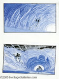 """Movie/TV Memorabilia:Miscellaneous, """"Beverly Hills Cop"""" Storyboards. Two 7 1/2"""" x 12 1/2"""" storyboardsdrawn by artist Daren Dochterman for the 1994 sequel """"Beve..."""