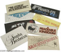 "Movie/TV Memorabilia:Ephemera, Group of Eight Production Signs. This lot features production signsfrom the movies ""Dutch,"" ""Arachnophobia,"" and ""Setup,"" a... (8Items)"