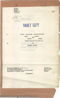 Movie/TV Memorabilia:Miscellaneous, Laurel and Hardy Vintage Script. Dated August 13, 1928, this is avault copy of an eight-page script for the title sheets to...