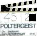 "Movie/TV Memorabilia:Props, ""Poltergeist III"" Production Clapboard. Genuine clapboard used during the production of ""Poltergeist III,"" it lists director..."