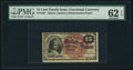 Fractional Currency:Fourth Issue, Fr. 1267 15¢ Fourth Issue PMG Uncirculated 62 EPQ.. ...