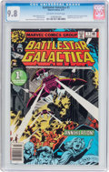 Bronze Age (1970-1979):Science Fiction, Battlestar Galactica #1 (Marvel, 1979) CGC NM/MT 9.8 Off-white towhite pages....