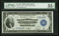 Fr. 734 $1 1918 Federal Reserve Bank Note PMG About Uncirculated 55 EPQ