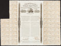 Confederate Notes:Group Lots, Ball 156 Cr. 116 £100/2500 Francs/4000 lbs. Cotton 1863 Bond 36Coupons Very Fine.. ...
