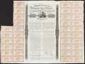 Confederate Notes:Group Lots, Ball 160 Cr. 119 £1000/25,000 Francs/40,000 lbs. Cotton 1863 Bond36 Coupons Fine-Very Fine.. ...