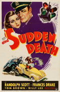 "Movie Posters:Mystery, And Sudden Death (Paramount, 1936). One Sheet (27"" X 41"").. ..."