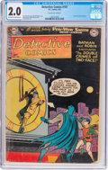 Golden Age (1938-1955):Superhero, Detective Comics #187 (DC, 1952) CGC GD 2.0 Off-white to white pages....