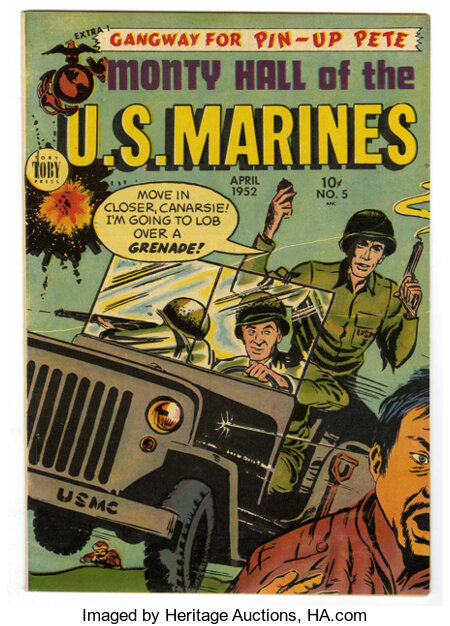 Monty Hall of the U. S. Marines #5 Mile High pedigree (Toby Publishing, 1952) Condition: VF-....