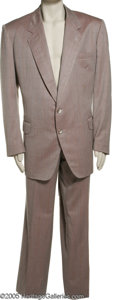 "Movie/TV Memorabilia:Costumes, Ed McMahon Suit. Jacket and pants by Continental of Beverly Hills, with a tag on the inside jacket pocket that reads: ""Exclu..."