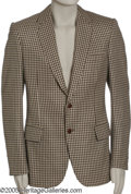 "Movie/TV Memorabilia:Costumes, Johnny Carson Sports Jacket. A nice, houndstooth sports jacket, byDorso of Beverly Hills, worn by the late ""Tonight Show"" h..."