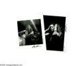 Music Memorabilia:Photos, Janis Joplin -- Photo Group of 2 (Don Aters). Photographer DonAters snapped these shots of Janis in 1968. In the mid 1990... (2Items)