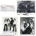 "Music Memorabilia:Photos Signed, Hard Rock Autograph Lot. Included is a W-4 form dated April 26, 1978, and signed by Alice Cooper, plus black-and-white 8"" x ... (4 )"