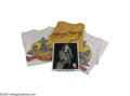 """Music Memorabilia:Photos Signed, Mick Jagger Signed Photo with Rolling Stones T-Shirts. Ablack-and-white 8"""" x 10"""" photo signed by Jagger, along with aJerry..."""