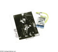"Music Memorabilia:Photos, Mick Jagger Signed Photo with Backstage Pass. A black-and-white 8""x 10"" photo signed by the Rolling Stones frontman in blac... (2Items)"