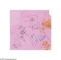 Music Memorabilia:Autographs and Signed Items, Jimi Hendrix Experience Signed Album Page....