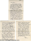 Music Memorabilia:Autographs and Signed Items, Janis Joplin Signed Letter and Envelope. This three-pagehandwritten letter is dated August 30, 1965, written by Joplin tob...