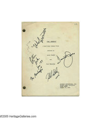 The Monkees: Original Television Pilot Script Signed by The Band! A tremendously significant memento in relation to the...