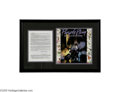 "Music Memorabilia:Documents Signed, Prince Rogers Nelson Signed Contract -- Matted Ensemble. ""An enigmawrapped up in a mystery."" Churchill actually said that a..."