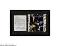 "Prince Rogers Nelson Signed Contract -- Matted Ensemble. ""An enigma wrapped up in a mystery."" Churchill actual..."