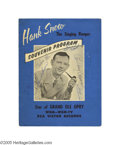 Music Memorabilia:Autographs and Signed Items, Hank Snow and Others Signed Program. Souvenir program book signedby Hank Snow, Jimmy Snow, Cowboy Copas, Wilma Lee, Stoney ... (1 )