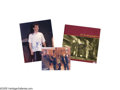 """Music Memorabilia:Autographs and Signed Items, U2 and Coldplay Signed Items Group. Included here is an color 11"""" x14"""" photo and a copy of U2's 1984 release """"The Unforgett... (1 )"""