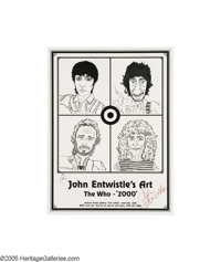 John Entwistle - Signed Who Art Poster (2000) The mighty Who's bassman was quite the cartoonist, designing the band's &q...