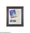 Music Memorabilia:Framed Presentations, Bob Wills and His Texas Playboys Autographs and Sheet Music. Adance band with a country string section, Bob WIlls and His T...