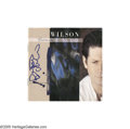 Music Memorabilia:Autographs and Signed Items, Brian Wilson Signed CD Cover. From the former Beach Boy's 1988 self-titled album - his first solo album -- signed by Wilson ...