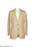 Music Memorabilia:Costumes, Bill Anderson Jacket. This beige Ruby Ltd. suit coat is signed anddated 2003 on the inside pocket in blue marker by country...