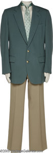Music Memorabilia:Costumes, Jim Ed Brown- Geoffrey Beene Jacket with Slacks and Tie A member ofthe Browns, who had the number one hit Three Bells i...