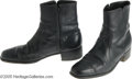 "Music Memorabilia:Costumes, Johnny Cash- Pair of Zip-Up Black Boots ""The Man in Black"" was oneof the best-loved and most-admired pop culture and music ..."
