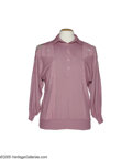 Music Memorabilia:Costumes, Ramona Jones Pink Shirt. This pink pullover was worn by RamonaJones, wife and occasional recording partner of Grand Ole Opr...