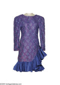 Music Memorabilia:Costumes, Loretta Lynn Dress. This blue-and-purple dress, once owned and word by Loretta Lynn, is trimmed in sequins and lace....