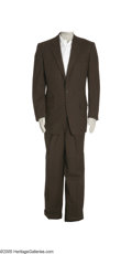 Music Memorabilia:Costumes, Jim Reeves Suit and Shirt. Included here is a white tuxedo shirt and a nice-looking two-piece brown pinstripe suit from Jose... (1 )