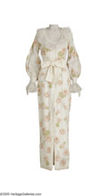 Music Memorabilia:Costumes, Dionne Warwick Stage Gown. Off-white gown with flower embroidery worn on stage by the soul singer. In very good condition, s... (1 )