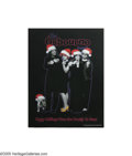 Music Memorabilia:Memorabilia, Osbourne Family Singing Christmas Card. A 2002 personalizedChristmas card from Ozzy Osbourne and family, featuring a sound ...