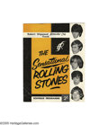 Music Memorabilia:Memorabilia, Rolling Stones 1964 U.K. Tour Book. Eight-page book with photos andbios of the Stones and opening acts, in good condition w...